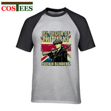 Per Ordine di La Peaky fookin Paraocchi T Camicette uomo Vintage Shelby Bros T-Shirt Inghilterra stile Peaky Blinder Retro Tee shirt homme(China)