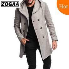 ZOGAA Fashion Mens Trench Coat Jacket Spring Autumn