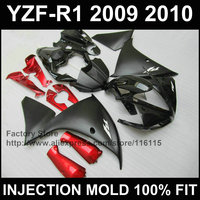 Custom Injection mold ABS fairings for YAMAHA 2009 2010 2011 YZF R1 09 11 YZF1000 matte black red YZFR1 motorcycle fairing parts