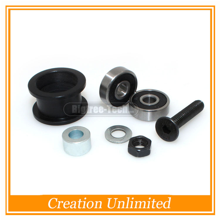1Set Smooth Idler Pulley wheel Kit POM Idler pulley without bearing for C-bean for Openbuilds V-Slot rail