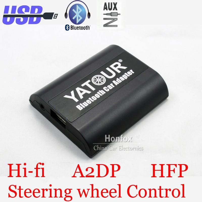Yatour Bluetooth Car Adapter For 8-Pin Fiat Bravo New Bravo Panda Idea Punto YT-BTA Hand free AUX IN HI-FI A2DP USB Charger