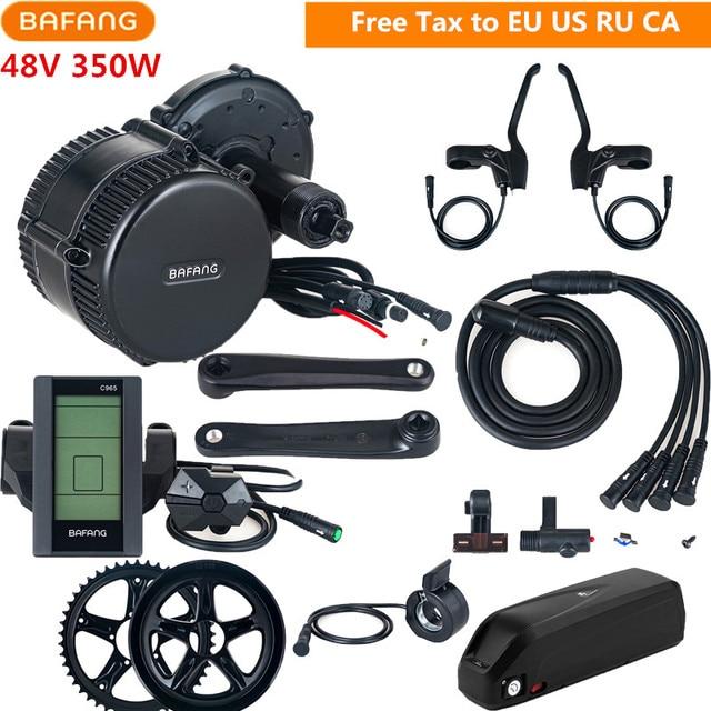 Bafang 8fun 48V 350W BBS01B Electric Bike Mid Drive Motor Conversion Kits With 48V 13AH Lithium Battery C961 C965 Display