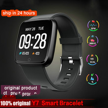 цены Y7 Smart watch Bracelet Blood Pressure Oxygen Sport Tracker smartwatch Waterproof Heart Rate Monitor Wristband For Men Women