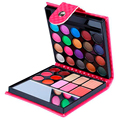 Professional Portable Makeup Eye Shadow Palette 10pcs/lot Cosmetics Blush with Eye Shadow Brushes and Mirror For Sale