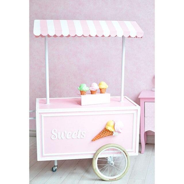 3X6 M vinyle rose glace creaam nouveau-né enfants décors de mariage pour la photographie anniversaire Photo arrière-plan photo studio toile de fond