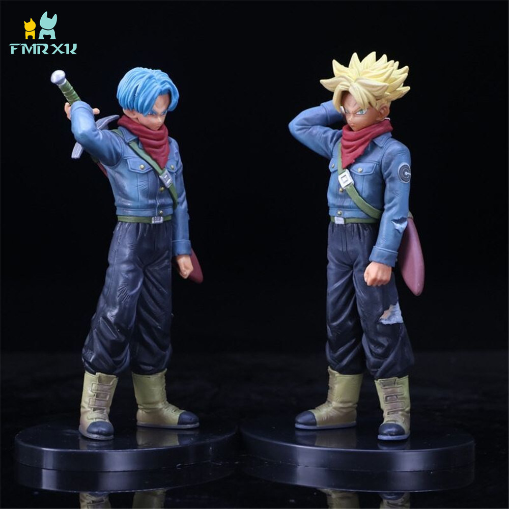 FMRXK 21cm Dragon Ball Z Super Saiyan Son Goku Trunks PVC Action Figure Model Collection Toy Gift