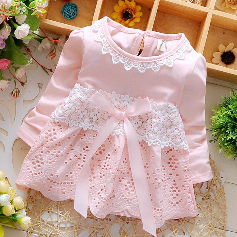Babyinstar offre spéciale 2019 robes pour enfants pour fille robe de princesse printemps à manches longues vêtements pour enfants tenues fille robe avec nœud