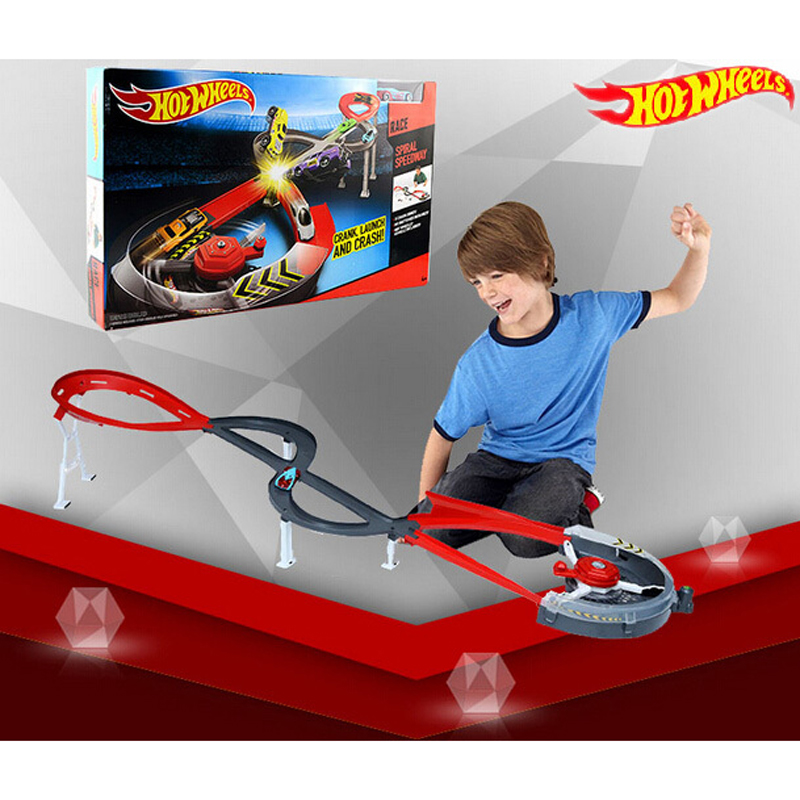 HOT Sale Hot Wheels Spiral Speedway Track Model Cars Toys Classic Educational Toy Car Best Birthday Gift For Children X2589