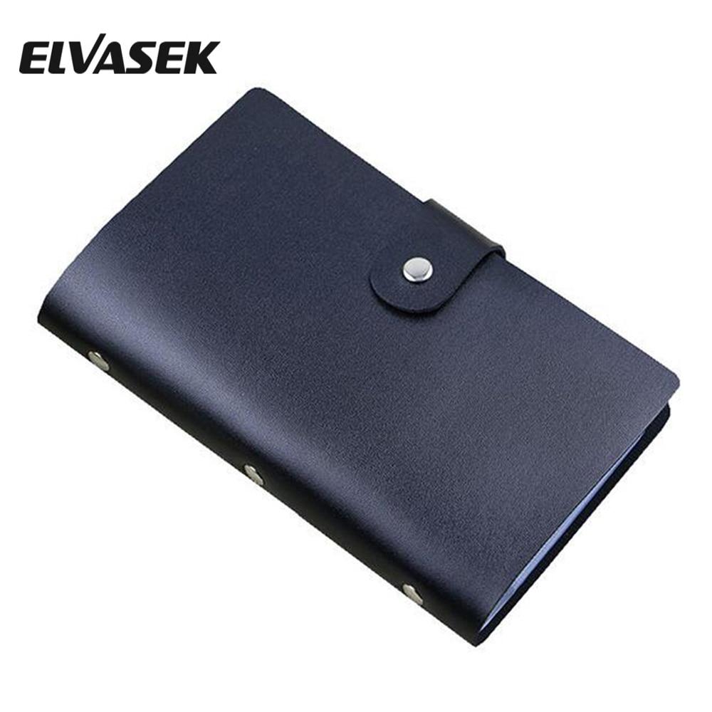 ELVASEK Fashion Women ID Holders Leather Credit Card Holder Women ...