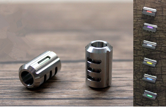 Titanium Alloy Knife Beads Paracord Can Fits 2pcs Tritium Gas Tube Umbrella Rope EDC Multi Tools Outdoor Parachute Cord Gadget