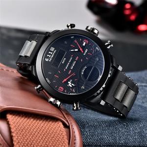 Image 2 - Dropshipping New 6.11Big Mens Watch Sport Quartz Men Dual Display Wristwatches Waterproof Outdoor Multiple Time Zone Clock