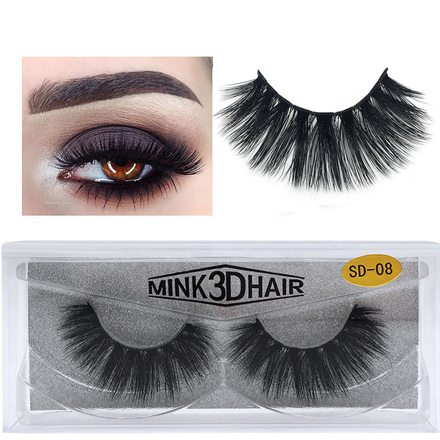 acd867d5ff9 Mink lashes 3D Mink false eyelashes cruelty free natural Lashes volume Real Mink  Lashes Handmade Crossing