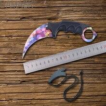 Купить с кэшбэком DAMASK Fixed Blade Knife Outdoor Survival Karambit CS GO Cosplay Knife Tactical Knife Perfect Camping Tools