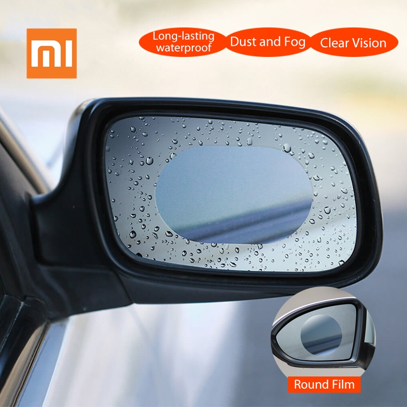2pcs/Set Original Xiaomi Youpin Car Rearview Mirror Protective Film Waterproof Anti Fog Rainproof Transparent Membrane Sticker