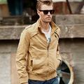 New Casual Slim 100% Washed Men Cotton Coat Men's Jacket ,4 Colors Jacket For Men Spring Autumn,Size M-XXL,JK119,Free Shipping