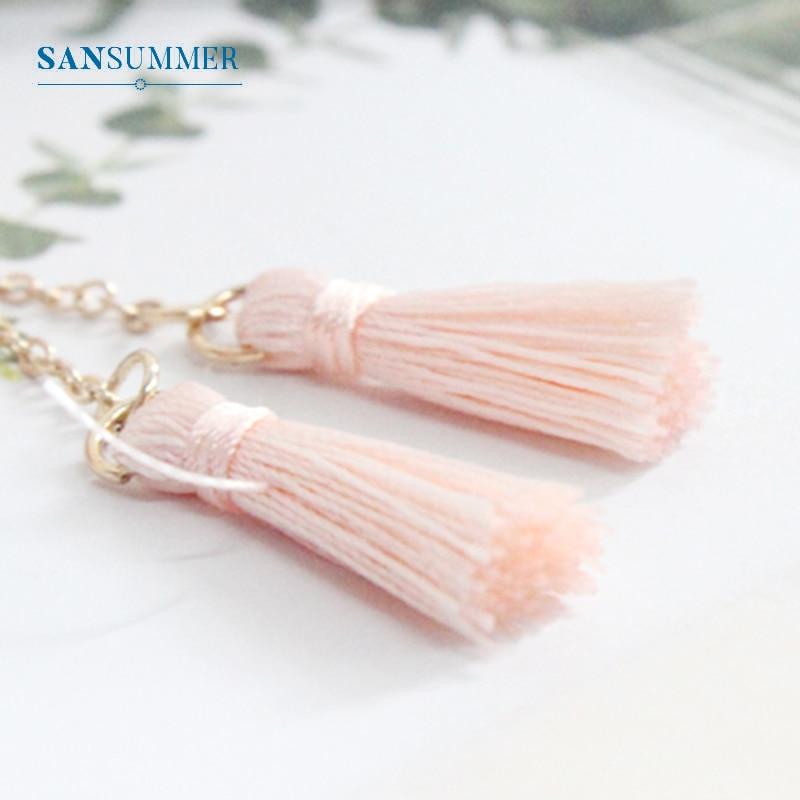 SANSUMMER 2019 Pearl Powder Tassel Hairpin Women 39 s Sweet Flower Flower Hairpin Fashion Elegant Beautiful Temperament 6816 in Hair Jewelry from Jewelry amp Accessories