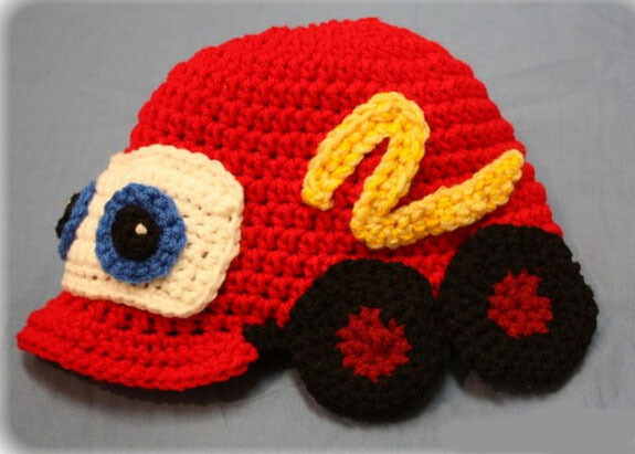 Free Shipping 100 Handmade Car Pattern Crochet Knitted Hat Newborn