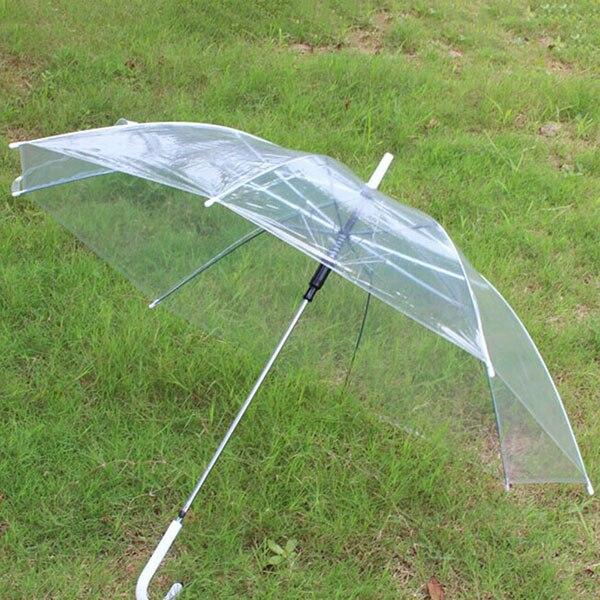 Модные прозрачные Зонты Женский Мужской дождь длинной ручкой прямой зонт-трость Для женщин Для мужчин дождь большой зонт 2018 Новый год