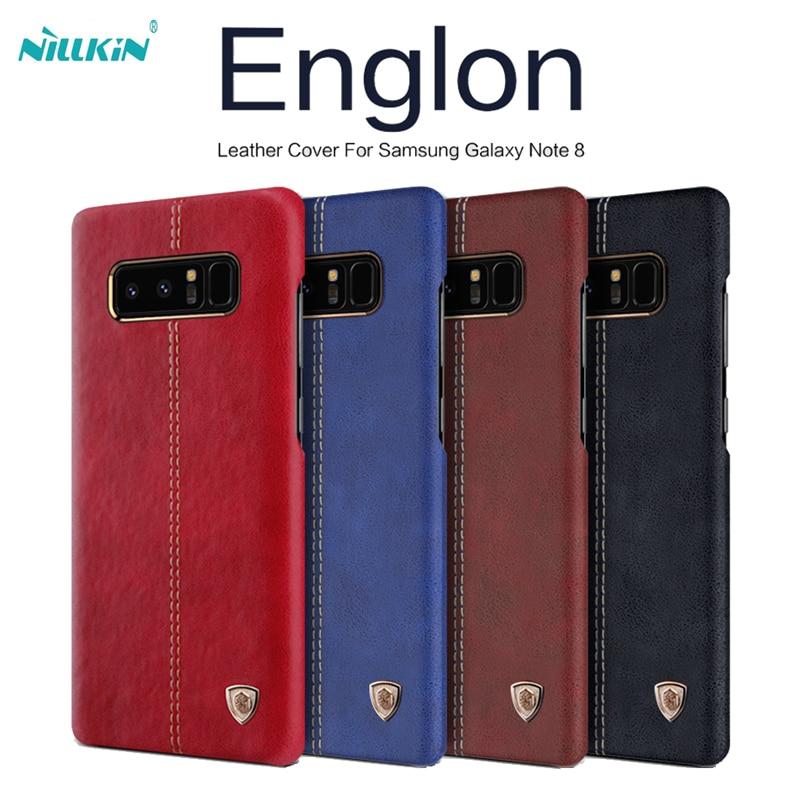 Nillkin englon capa de couro para samsung galaxy s8/s8 mais capa de luxo do vintage caso de couro do plutônio para galaxy note 8 frete grátis