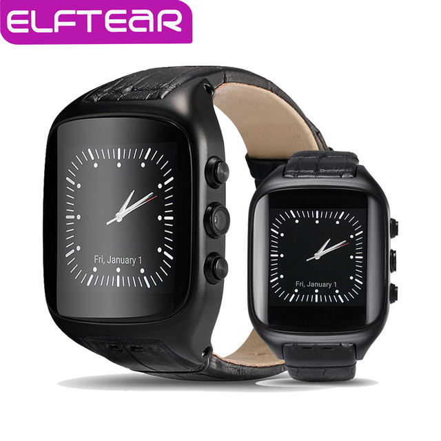 ELFTEAR X01S Android 5.1 MT6572 1 Г + 8 Г Dual Core Smart Watch HD камера Поддержка GPS Wifi 3 Г Интернет Google Map PK LEM5 KW88