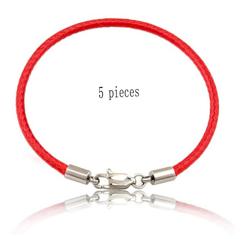 ad5097e3d9d 5 Pieces/Lot Wholesale Women Men Red Thread Trendy Accessories Red Black String  Bracelet Rope