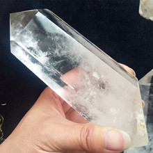 100%Natural transparent quartz crystal wand decorates stones and crystals point healing