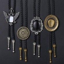 Cowboy Leder Halskette für Männer Bolo Krawatte Blume Indische Chef Adler Rodeo Western Künstliche Leder Herren Halsketten Großhandel DUNM10