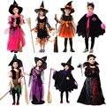 Костюм ведьмы Дьявол Ангел Одежда Косплей Карнавал Хэллоуин Костюмы для Девушки Дети Рождество День Рождения