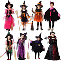 Witch Costume Devil Angel Clothing Cosplay Carnival Halloween Costumes for Girls Kids Christmas Birthday Party