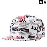 2017 New Leather Gorras Planas Snapbacks Hot Style Masculino Feminino American Flag Flat Hat Baseball Cap