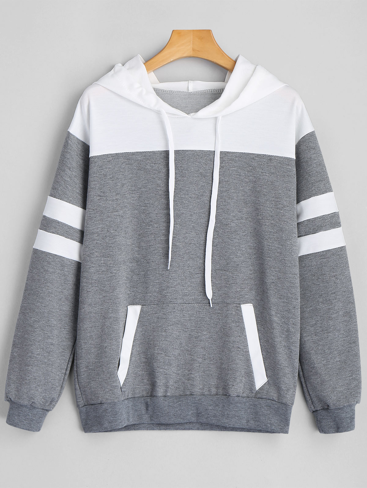 37f95bc5d24 Shirt Length  Regular Sleeve Length  Full Paern Style  Striped Weight   0.4200kg. Package Contents  1 x Hoodie Casual drawstring hoodie featuring  striped ...