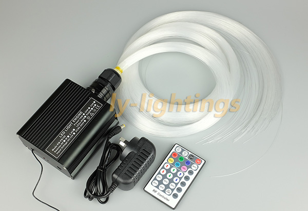 fiber optic light kit mini optical fiber celing light RGB+W LED multi-mode 16W led light box+ 0.75mmx2.5mx250pcs fibre for sales decoration fiber optic light kit optical fiber stars celing light rgb w 18w led light source 0 75mmx3mx300 pmma fibre