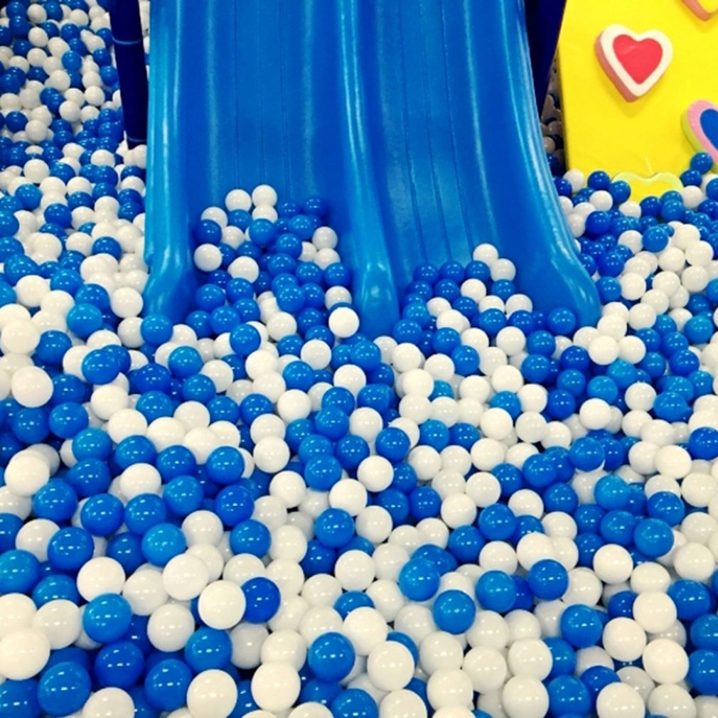 100pcs/lot Eco-Friendly Soft Plastic Water Pool Ocean Wave Ball Swimming Ball Pits Baby Funny Stress Air Ball Kids Toys Balls