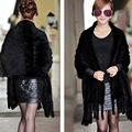 2016 Brand Besty Fashion Women Soft Real Mink Fur Shawls lady knitted soft yet thin female shawls fur shawl wrap with tassel