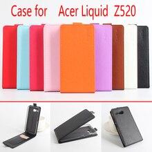 9 Цвет Личи Текстуры Кожаный Чехол Для Acer Liquid Z520 Откидная Крышка чехол С Карты Слот Для Acer Z 520 Кожаный Чехол Телефон Случаях