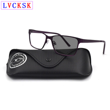 Men Photochromic Sunglasses Myopia Reading Glasses Magnifier Fashion Women Presbyopia Nearsighted Eyeglasses Send Leather Box L3