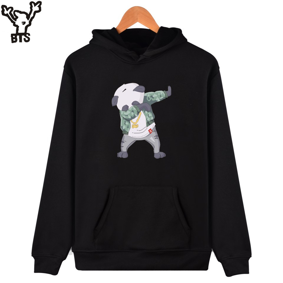 BTS Funny Animal Sweatshirt Men/women Hoodie Kawaii Cartoon Panda Hooded Sweatshirt Men  ...