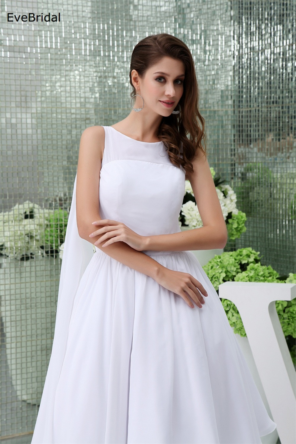 Chiffon a line high neck sleeveless tea length bridesmaid dresses chiffon a line high neck sleeveless tea length bridesmaid dresses wedding party dresses robe de soiree in underwear from mother kids on aliexpress ombrellifo Image collections
