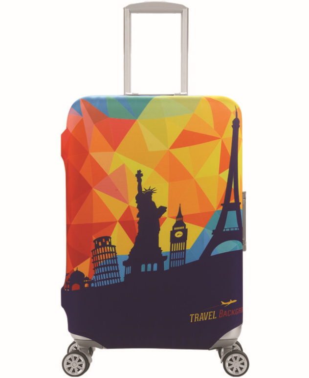 19-32 Inch Statue Of Liberty Elastic Travel Luggage Protective Cover Stretch Protect Trolley Suitcase Cover