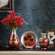 New arrival ceramic vase piece set fashion flower modern brief decoration home