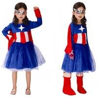 Hot Sale Children S Halloween Captain America Halloween Costumes Kids Girls Cosplay Costumes Fantasia Disfraces Game