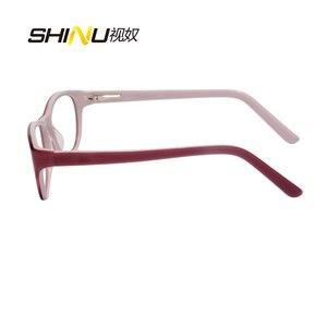Image 4 - アンチブルーライト老眼鏡女性抗疲労視力眼鏡uv400保護アセテート眼鏡oculosデleitura ld016