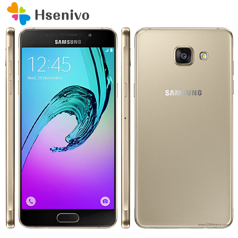 "100% Unlocked Original Samsung Galaxy A5 A5100 Octa Core 2G RAM 16G ROM 5.2"" Android 5.1 Dual SIM 13.0MP 4G LTE mobile phones"