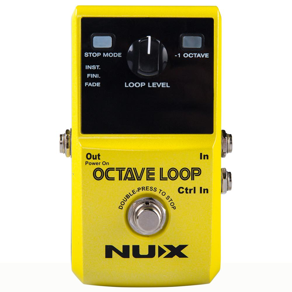 NUX Octave Loop Guitar Pedal Looper 5 Minutes Recording Time Electric Bass Built-in Octave Effect Accessories nux octave loop guitar pedal 24 bit uncompressed recording guitar effect pedal true bypass guitar accessories