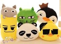 Gift For Kids 1pc 40cm Funny Green Cat Koala Penguin Chicken Panda Plush Doll Pillow Cushion