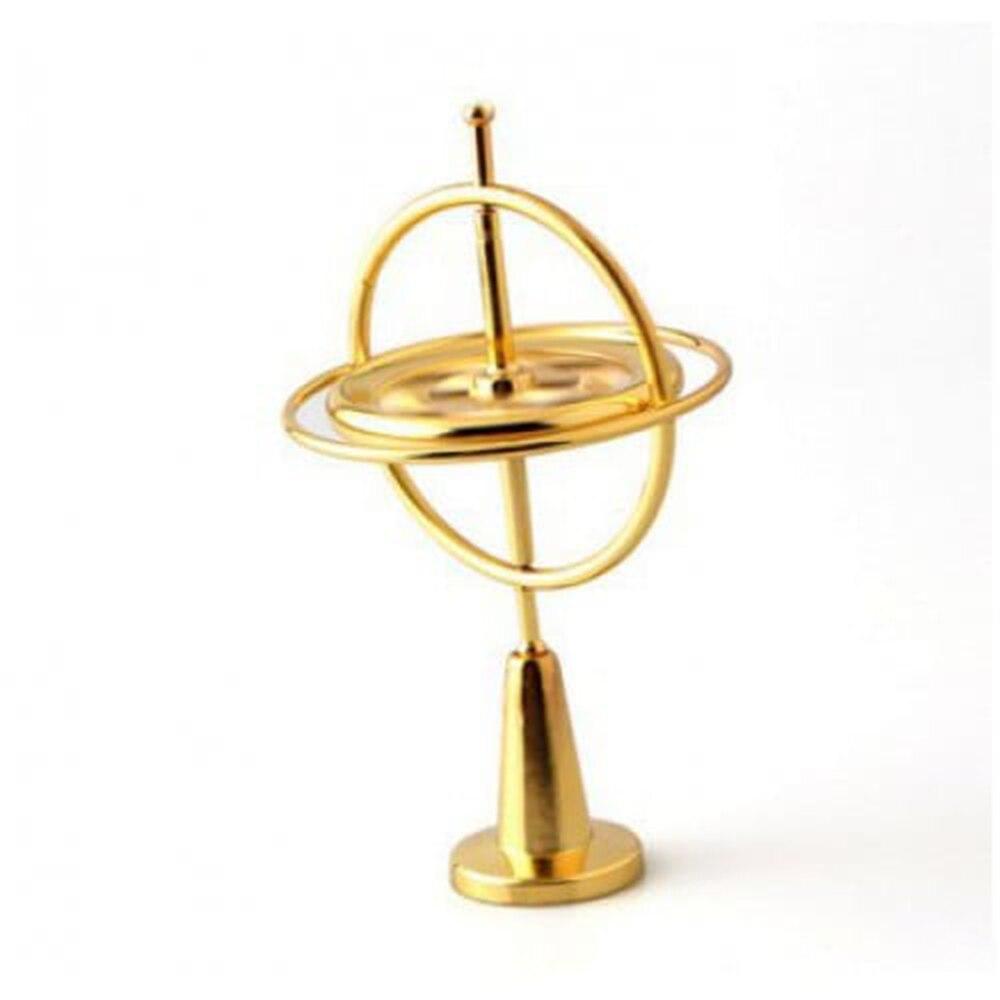 Gyroscope en métal Gyro jouets classiques éducatifs traditionnels de haute qualité expérience créative magie UFO Spinner enfant cadeau adulte