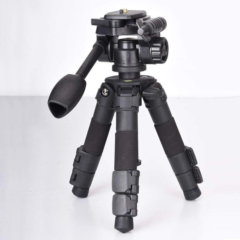 Fusitu Q166S Portable Folding mini tripode Desktop Tripod for DSLR Camera