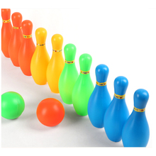 Мини взаимодействия досуга развивающие игрушки с футбольным мячом и штыри для детей Пластик Набор для боулинга для детей забавные игрушки