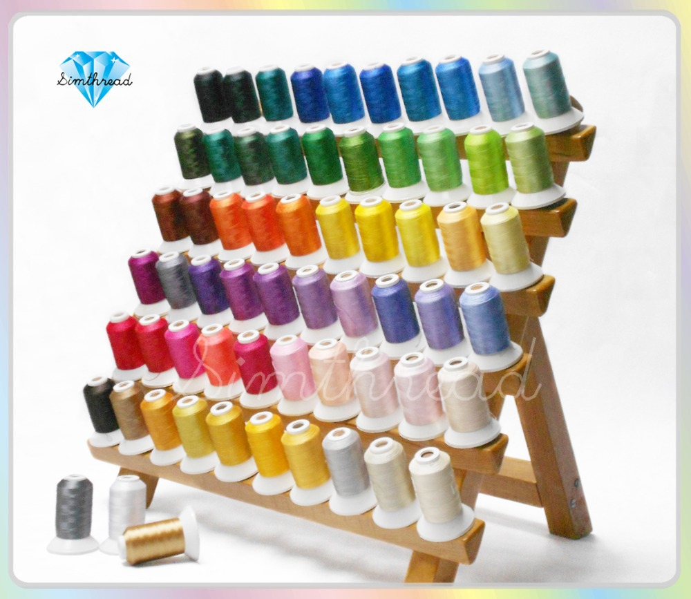 Benang Mesin Polyester Series Brother Colors, 500m * 63 Warna Berbagai Ketebalan Super Sheen
