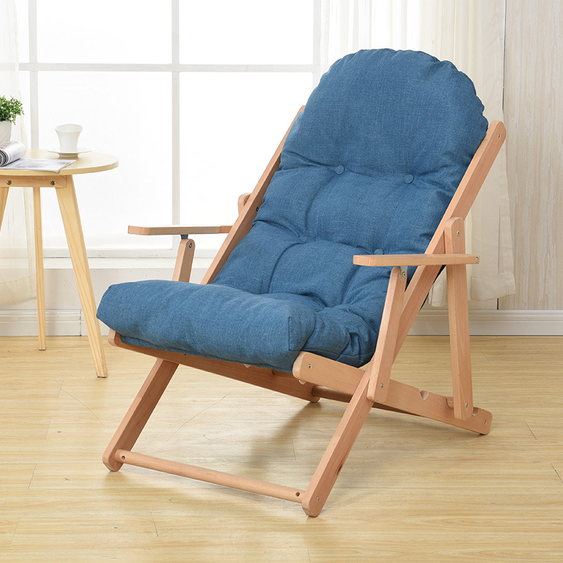 Leisure Rocking Chair Solid Wood Folding Lounge Chair Simple Lazy Chair Lazy Sofa Recliner Living Room Bedroom Balcony Furniture dormitory home furniture balcony living room leisure fishing sofa beach indoor outdoor round lazy cadeira stool folding chair